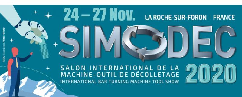 Le SIMODEC, Salon International de la Machine-Outil de Décolletage du 24 au 27 novembre 2020