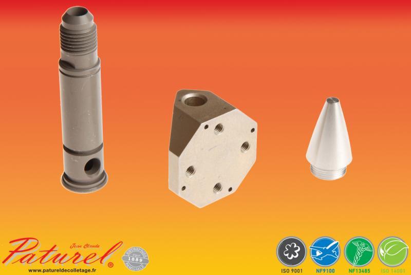 PATUREL DECOLLETAGE - Fabricant de prototypes d'axes, d'embases et de cônes fusée à destination de l'industrie aéronautique et spatiale