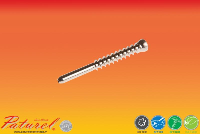 PATUREL DECOLLETAGE - Fabricant de Vis Médical, en inox 316L implantable à destination du secteur du médical.. Production de vis pour : Hanche, Clavicule, ...