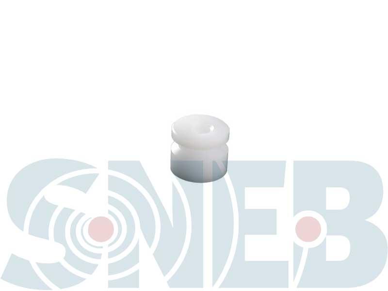 SNEB DECOLLETAGE - Fabricant de poulies Ø 12 en plastique POM blanc à destination de machines spéciales.